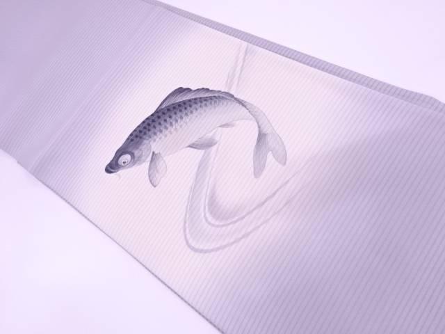 【IDN】 未使用品 絽手描き鯉模様袋帯【リサイクル】【着】, カー用品卸問屋 NFR a9e8516f