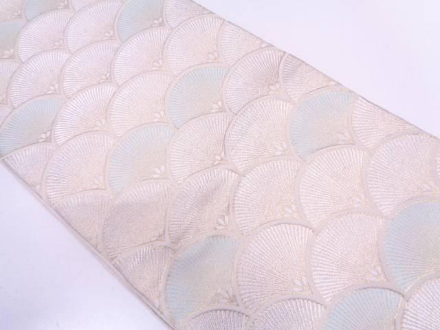 【IDN】 服部織物製織物製 古きん錦青海波に若松模様織出し袋帯【リサイクル】【中古】【着】