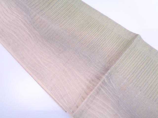 【IDN】 すくい織変わり横段模様織出し袋帯【リサイクル】【中古】【着】
