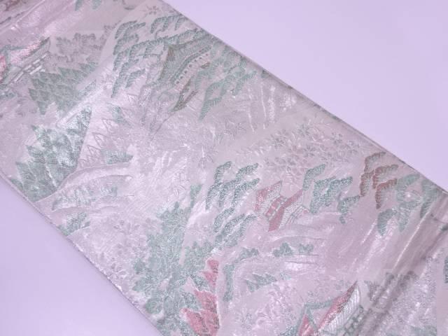 【IDN】 九百錦渓流風景模様織出し袋帯【リサイクル】【中古】【着】