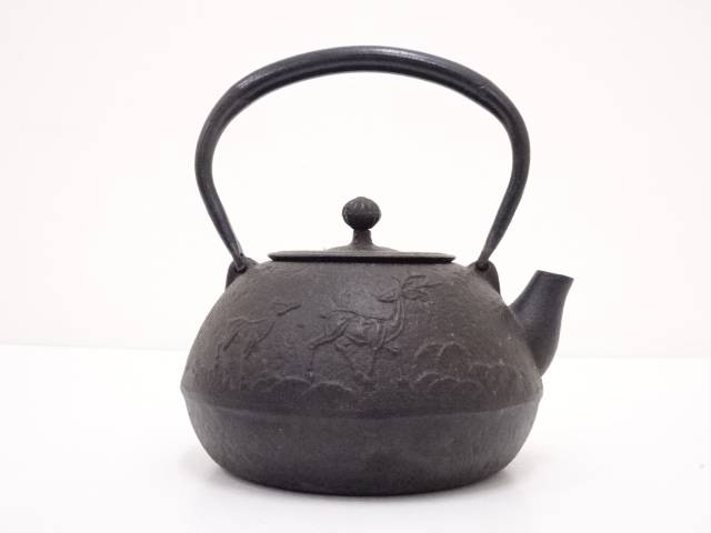 【IDN】 南部鉄器 鉄瓶(1710g)【中古】【道】