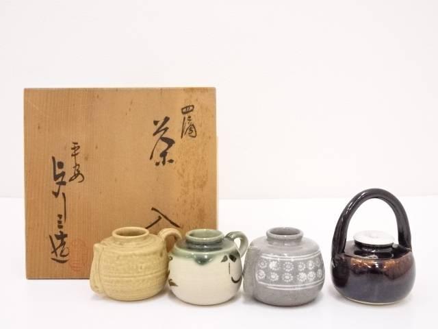 【IDN】 京焼 浅見与し三造 四滴茶入【中古】【道】