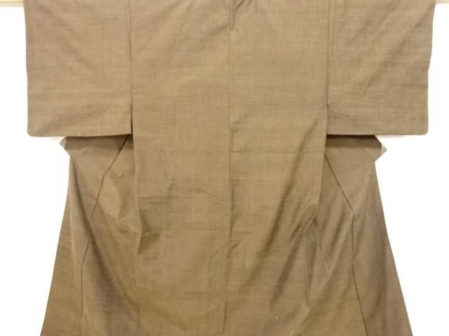 【IDN】 手織り節紬男物着物アンサンブル・兵児帯セット【リサイクル】【中古】【着】