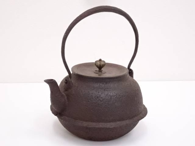 【IDN】 古物 斑紫銅蓋鉄瓶(1500g)【中古】【道】