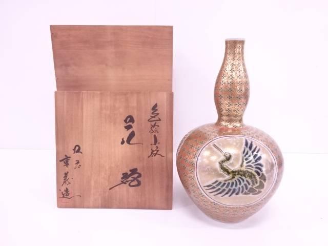 【IDN】 九谷焼 山本重義造 色絵小紋花瓶【中古】【道】