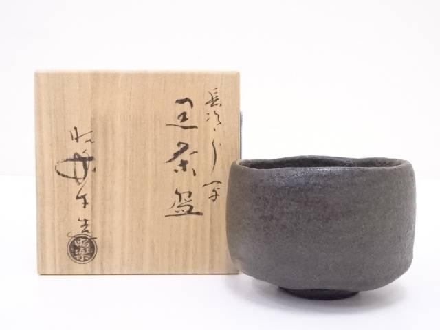 【IDN】 佐々木昭楽造 長次郎写黒楽茶碗【中古】【道】