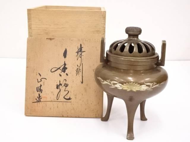 【IDN】 正晴造 鋳銅香炉【中古】【道】