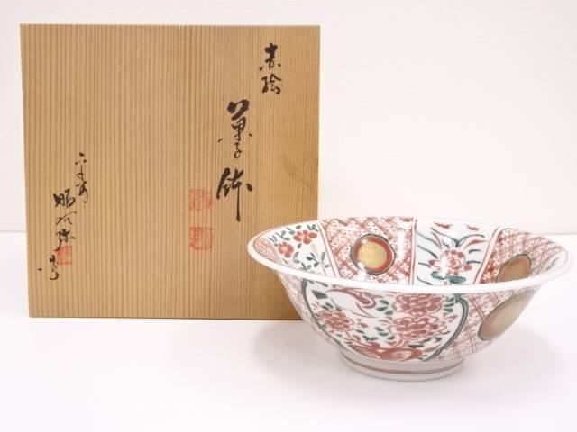 【IDN】 京焼 高野昭阿弥造 赤絵菓子鉢【中古】【道】