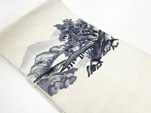 【IDN】 綴れ 遠山風景模様織り出し名古屋帯【リサイクル】【中古】【着】