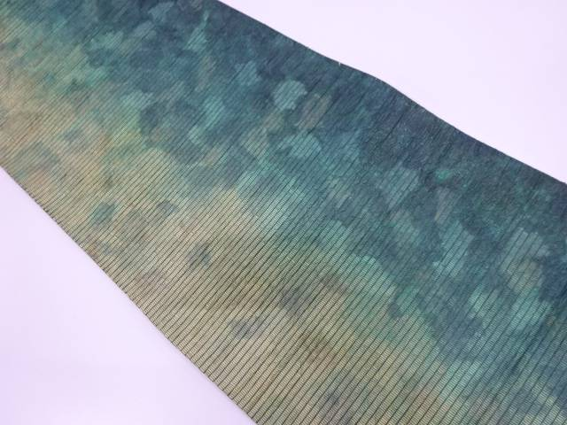【IDN】 渡文製 抽象模様織出し袋帯【リサイクル】【中古】【着】