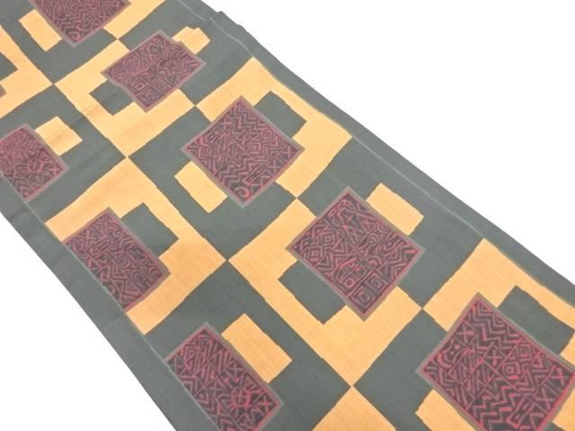 【IDN】 木屋太製 抽象模様織出し袋帯【リサイクル】【中古】【着】