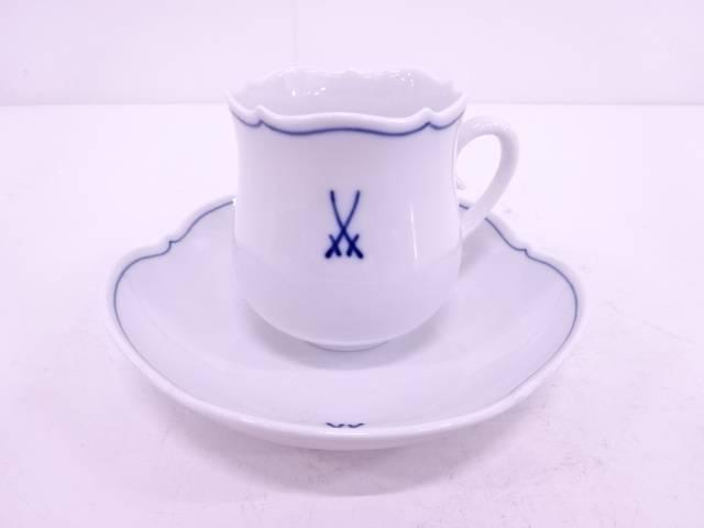【IDN】 Meissen ホワイトマイセン コーヒーカップ&ソーサー【中古】【道】
