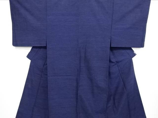 【IDN】 横段織り出し手織り真綿紬男物着物アンサンブル【リサイクル】【中古】【着】