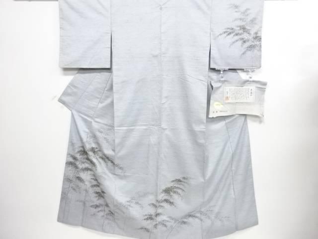 【IDN】 紙布手描き竹笹模様栗繭紬一つ紋訪問着【リサイクル】【中古】【着】