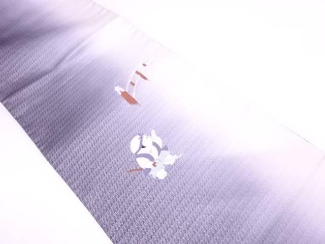 【IDN】 未使用品 縞に御所人形模様刺繍袋帯【リサイクル】【着】