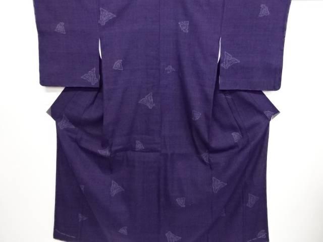 【IDN】 重要無形文化財本場結城紬80亀甲琴柱模様織り出し着物【リサイクル】【中古】【着】