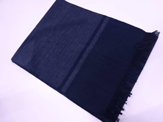 【IDN】 正絹 手織り真綿紬男物兵児帯【リサイクル】【中古】【着】