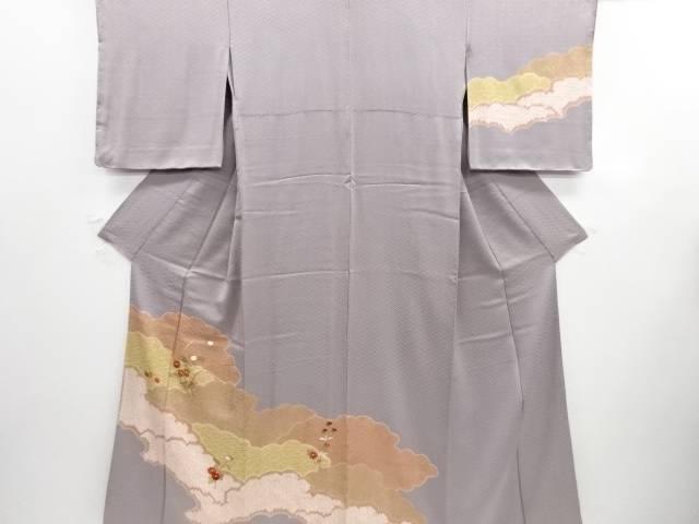 【IDN】 未使用品 仕立て上がり 絞り雲取に菊模様刺繍訪問着【着】, 詫間町:2d625495 --- adfun.jp