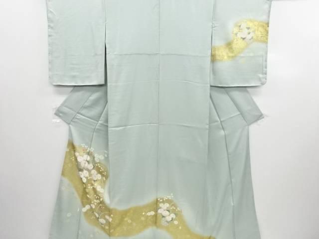 【IDN】 未使用品 仕立て上がり 金彩花籠模様刺繍訪問着(重ね衿付き)【着】