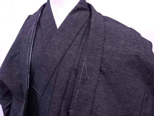 【IDN】 男物紬 アンサンブル 無地 着物 未使用品【リサイクル】【着】