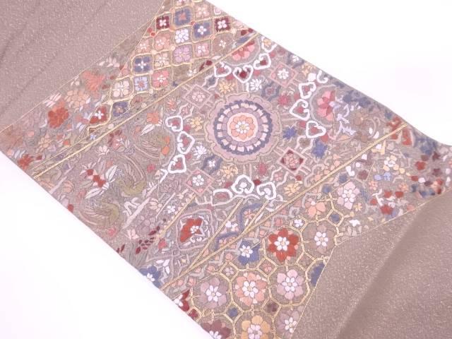 【IDN】 蘇州刺繍宝相華に花鳥模様袋帯【リサイクル】【中古】【着】