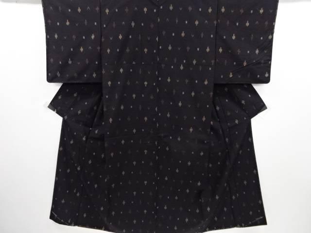 【IDN】 未使用品 抽象模様織り出し米沢紬着物【リサイクル】【着】