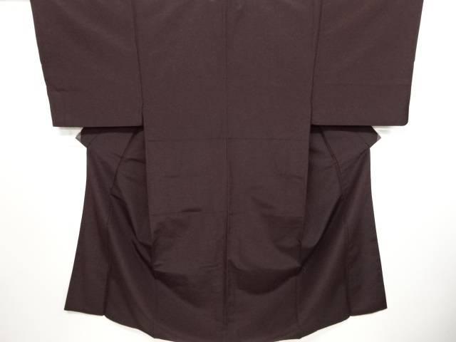 【IDN】 手織りひげ紬一つ紋男物着物アンサンブル(キングサイズ)【リサイクル】【中古】【着】