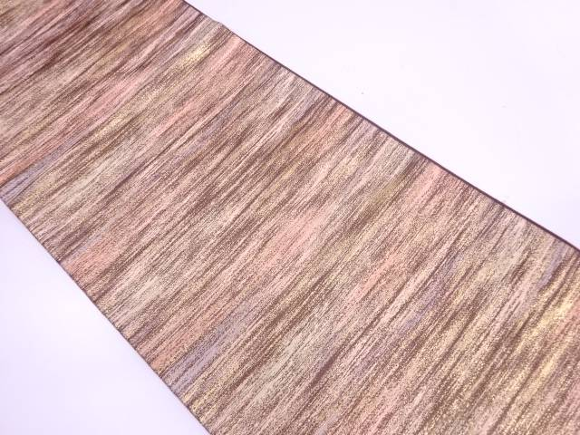 【IDN】 草木染抽象模様織出し袋帯【リサイクル】【中古】【着】