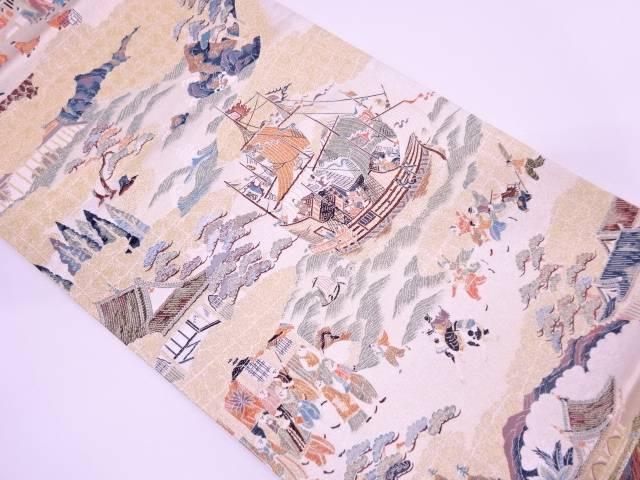 【IDN】 未使用品 南蛮屏風図織出し袋帯【リサイクル】【着】