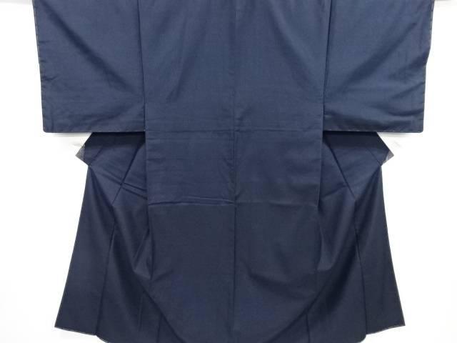 【IDN】 未使用品 仕立て上がり 手織り紬男物着物【着】