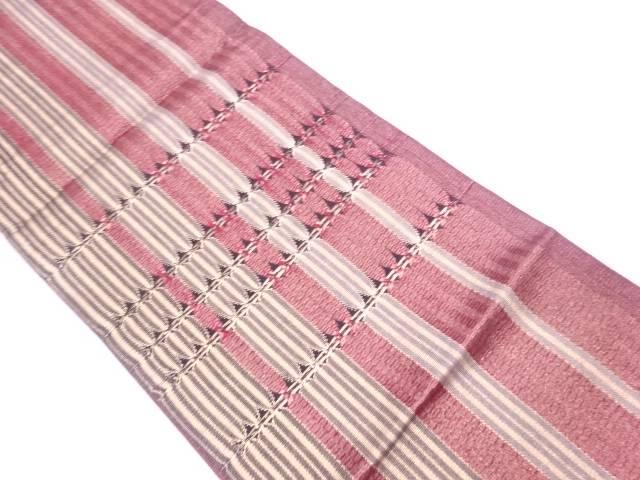 【IDN】 ひなや謹製 組織縞模様織出し袋帯【リサイクル】【中古】【着】