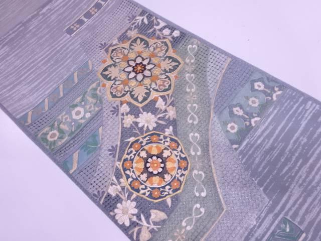 【IDN】 汕頭刺繍華紋模様袋帯【リサイクル】【中古】【着】