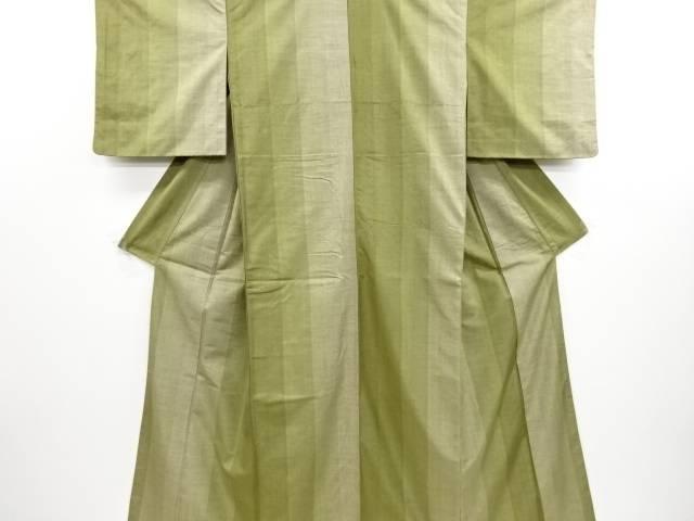 【IDN】 縞織り出し手織り真綿紬着物【リサイクル】【中古】【着】