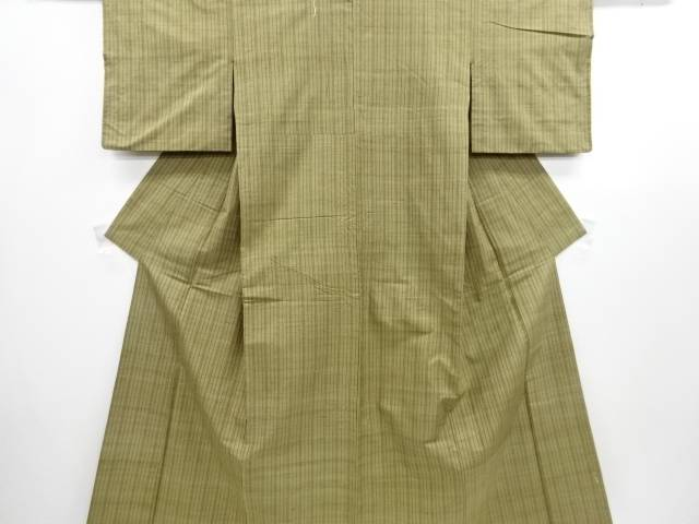 【IDN】 縞織り出し手織り節紬着物【リサイクル】【中古】【着】