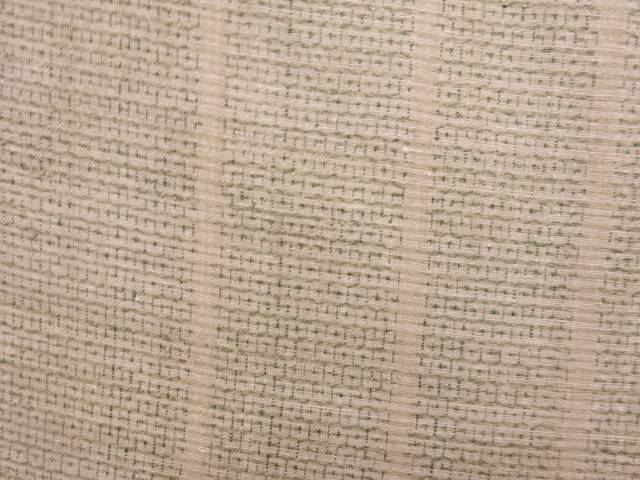 【IDN】 重要無形文化財 本場大島紬80亀甲単衣着物【アンティーク】【中古】【着】
