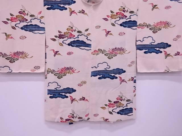 【IDN】 本場琉球紅型雲に花鳥模様羽織【リサイクル】【中古】【着】