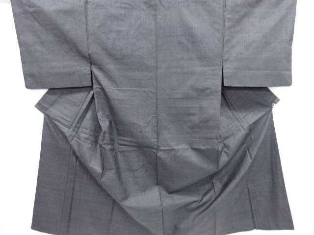 【IDN】 小格子織り出し本場泥大島紬男物着物アンサンブル【リサイクル】【中古】【着】
