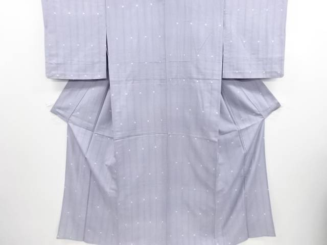 【IDN】 絞り水玉模様米沢紬単衣着物【リサイクル】【中古】【着】