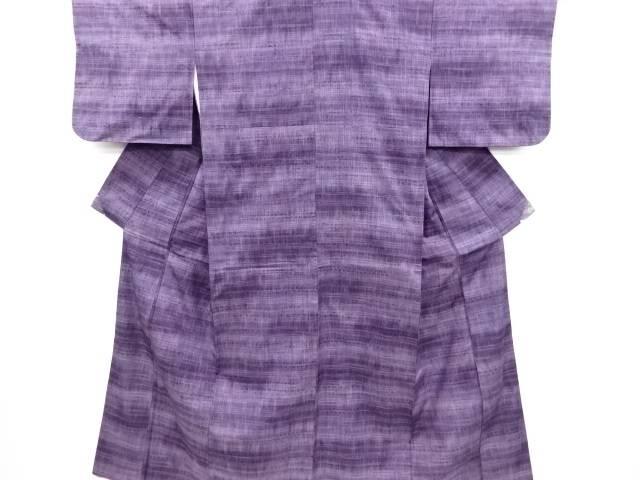 【IDN】 横段織り出し暈し手織り真綿紬着物【リサイクル】【中古】【着】