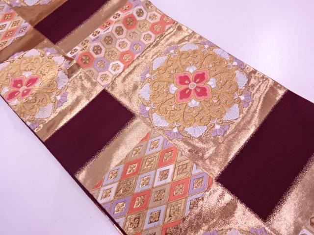 【IDN】 華紋に古典柄模様織出し袋帯【リサイクル】【中古】【着】