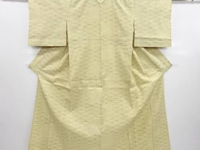 【IDN】 網目模様織り出し手織り紬単衣着物【リサイクル】【中古】【着】