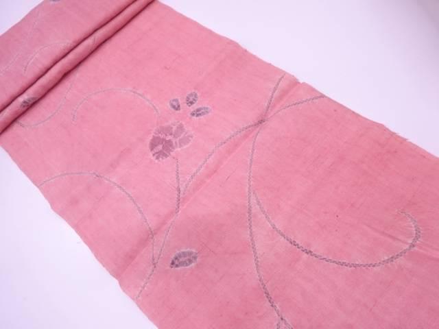 【IDN】 B反 生紬絞り草花模様着物洗い張り【リサイクル】【中古】【着】