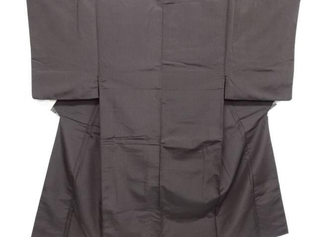 【IDN】 縞織り出しお召し男物着物アンサンブル 兵児帯セット【リサイクル】【中古】【着】