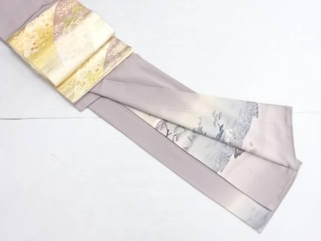【IDN】 作家物 手描き友禅小舟に松模様一つ紋色留袖・袋帯セット【リサイクル】【中古】【着】
