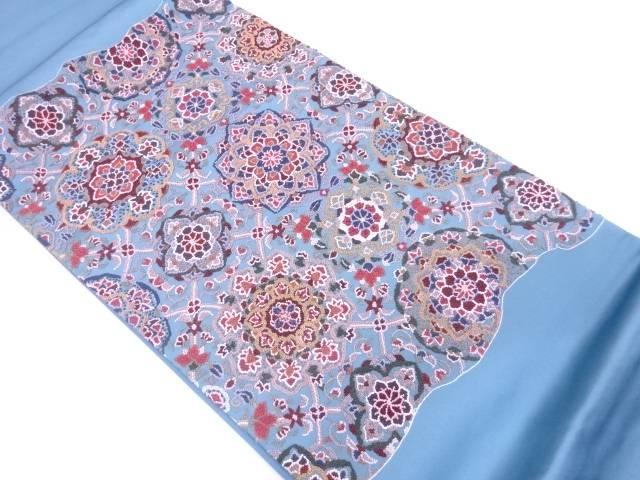 【IDN】 相良刺繍花模様袋帯【リサイクル】【中古】【着】