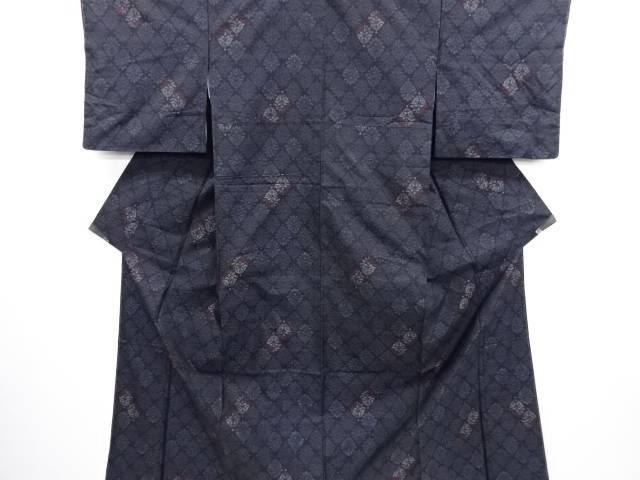 【IDN】 未使用品 花更紗模様織り出し本場泥大島紬着物アンサンブル【リサイクル】【着】