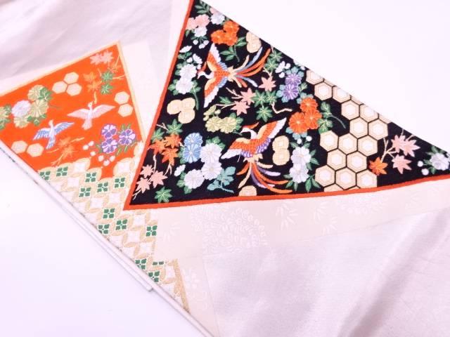 【IDN】 草花に極楽鳥模様織出し袋帯【リサイクル】【中古】【着】