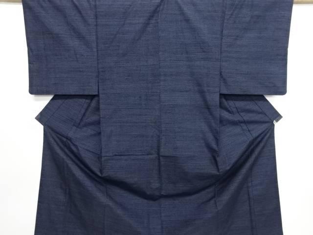 【IDN】 亀甲絣柄織り出し本真綿結城紬男物着物アンサンブル【リサイクル】【中古】【着】