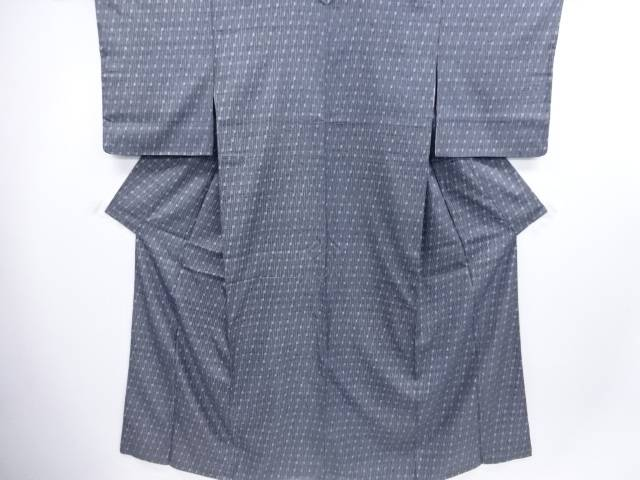 【IDN】 抽象模様手織り節紬着物【リサイクル】【中古】【着】