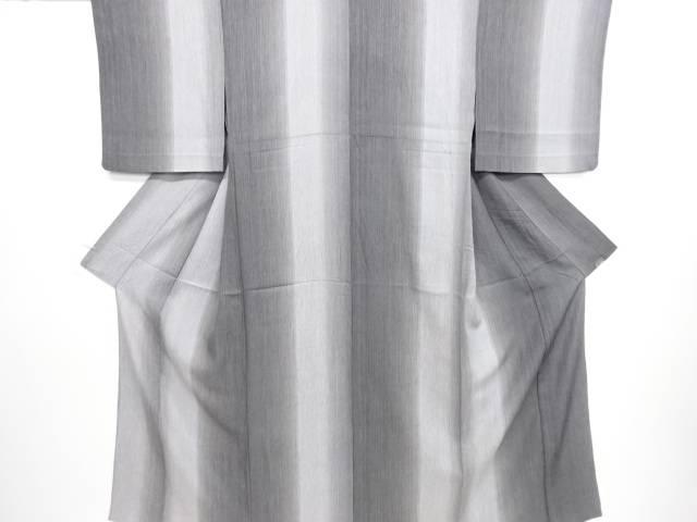 【IDN】 縞模様暈し単衣小紋着物【リサイクル】【中古】【着】